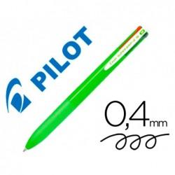 Esferografica pilot supergrip g 4 cores retratil tinta base de oleo corpo cor verde lima