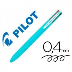 Esferografica pilot supergrip g 4 cores retratil tinta base de oleo corpo cor azul claro