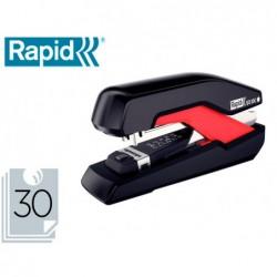 Agrafador rapid so30c plastico preto/vermelho capacidade 30 folhas usa agrafes omnipress 30