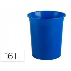 Cesto de plastico archivo 2000 antimicrobiana sanitized plastico azul 16 litros 290x310 mm