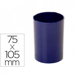 Porta lapis archivo 2000 antimicrobiano sanitized redondo azul 75x105 mm