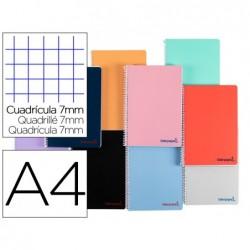 Caderno espiral liderpapel a4 wonder capa de plastico 80f 90gr pautado 7mm dupla margem cores sortidas