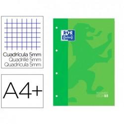 Recarga cor 1 oxford din a4+ 80 folhas 90 gr quadricula 5 mm 4 furos cor verde maca
