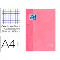 Recarga cor 1 oxford din a4+ 80 folhas 90 gr quadricula 5 mm 4 furos cor rosa chiclet