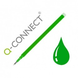Recarga esferografica q-connect retratil kf11060 apagavel verde caixa de 3 unidades