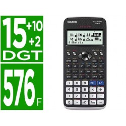 Calculadora casio fx-570spx ii classwiz cientifica 576 funcoes 9 memorias 15+10+2 digitos codigo qr com capa preta