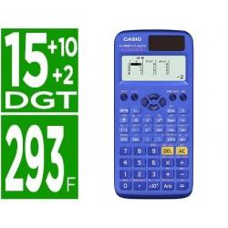 Calculadora casio fx-85spx ii classwiz cientifica 293 funcoes 9 memorias 15+10+2 digitos 16 mb flash rom com capa azul