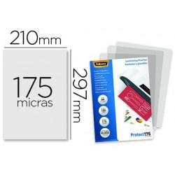 Bolsa de plastificar fellowes brilho din a4 175 microns pack 100 unidades