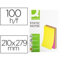 Bloco de notas magneticas q-connect 210x297 mm 100 folhas 5 cores fluorescentes