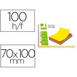 Bloco de notas magneticas q-connect 70x100 mm 100 folhas 5 cores fluorescentes
