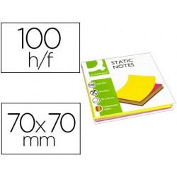 Bloco de notas magneticas q-connect 70x70 mm 100 folhas 5 cores fluorescentes