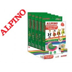 Pasta alpino para modelar magic dough expositor de 5 sets sortidas