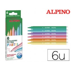 Marcador alpino standard pastel caixa de 6 cores sortidas