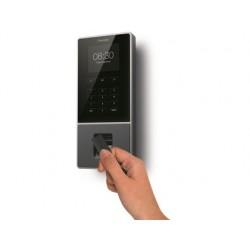 Controlador de presenca safescan tm-626 com codigo pin cartao rfid ou impressao digital ate 200 usuarios conexao interne