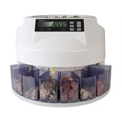 Contador e classificador de moedas safescan 1250eur velocidade 200 moedas / minuto capacidade 500 moedas