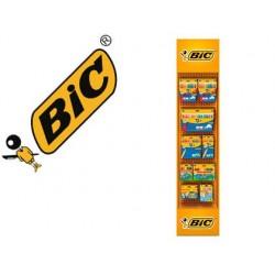 Expositor bic chao floorstand coloring lapis de cores kids / plastidecor / marcador kids 142 unidades sortidas 1865x400x