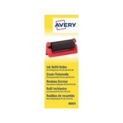 Rolo entintador avery para etiquetadora pl1/8 e pl2/18 cor preta caixa de 5 unidades