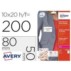 Etiqueta adesiva avery identificativa acetato de seda tamanho 80x50 mm removivel laser caixa de 100 unidades
