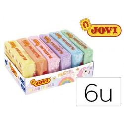 Plasticina jovi 70 sortida formato pequeno cores pastel sortidas caixa de 6 unidades 50 g