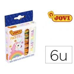Plasticina jovi 90 estojo 6 unidades cores pastel sortidas 15 g
