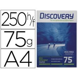 Papel fotocopia discovery fast pack din a4 75 gr papel multiuso tinteiro e laser caixa de 2500 folhas