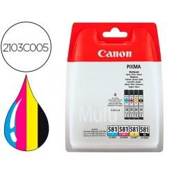Ink-jet canon cli 581 pixma tr8550 / ts6250 / ts8250 / ts9150 / ts9550 pack 4 negro amarillo cian magenta 5