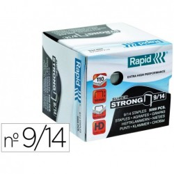 Agrafes rapid super strong galvanizados nº9/14 caixa de 5000 unidades