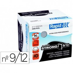 Agrafes rapid super strong galvanizados nº9/12 caixa de 5000 unidades
