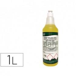 Limpador higienizante desodorizante desinfetante sorf plusamarelo rtu garrafa de 1 litro