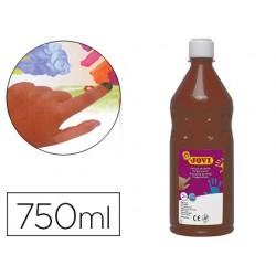 Pintura a dedos jovi 750 ml castanho