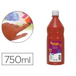 Pintura a dedos jovi 750 ml vermelhao