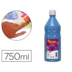 Pintura a dedos jovi 750 ml azul
