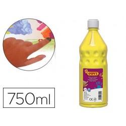 Pintura a dedos jovi 750 ml amarelo