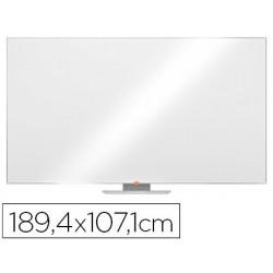 "Quadro branco nobo nano clean magnetico aco widescreen 85\"" com bandejas para marcadores 1071x15x1894 mm"""