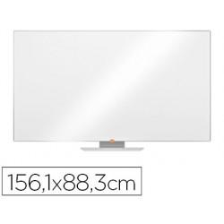 "Quadro branco nobo nano clean magnetico aco widescreen 70\"" com bandejas para marcadores 883x15x1561 mm"""