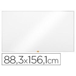 "Quadro branco nobo magnetico aco vitrificado widescreen 70\"" com bandejas para marcadores 883x15x1561 mm"""
