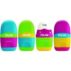 Apara lapis milan plastico 1 uso com borracha capsule mix