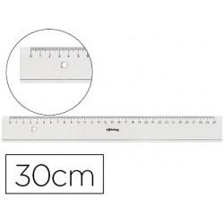 Regua rotring 30 cm plastico transparente