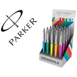 Esferografica parker jotter plastic original expositor de 20 unidades cores sortidas
