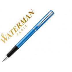Caneta waterman allure lacada azul em estojo de oferta