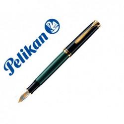 Caneta pelikan souveran m400 preto / verde com ouro aparo f em kit