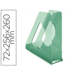 Porta revistas esselte plastico colour ice cor verde 72x256x260 mm