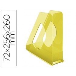 Porta revistas esselte plastico colour ice cor amarelo 72x256x260 mm