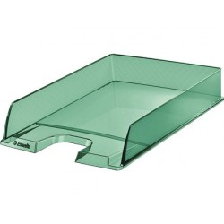 Tabuleiro de secretaria esselte plastico colour ice cor verde 254x61x350 mm