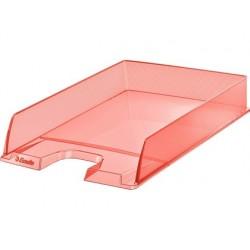 Tabuleiro de secretaria esselte plastico colour ice cor damasco 254x61x350 mm