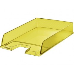 Tabuleiro de secretaria esselte plastico colour ice cor amarelo 254x61x350 mm