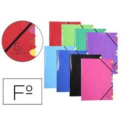 Pasta classificadora exacompta iderama 12 departamentos folio com elasticos forrada a cartao cores sortidas
