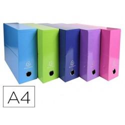 Caixa de transferencias exacompta iderama din a4 lomo 90 mm cores sortidas