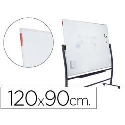 Quadro branco rocada vitrificado magnetico com suporte dupla face 90x120 cm