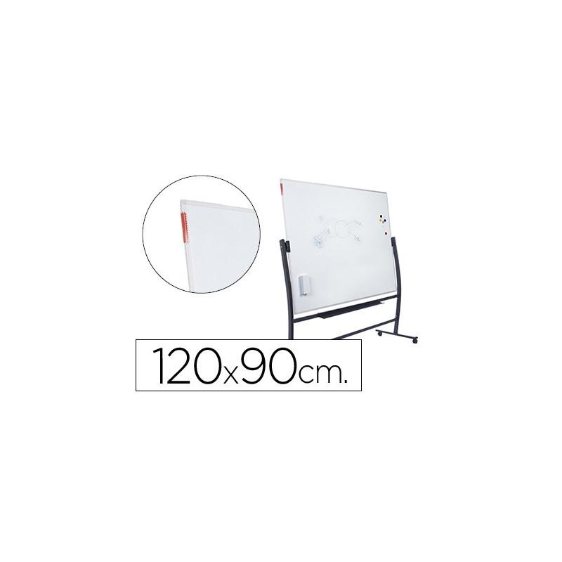 Quadro branco rocada lacado magnetico com suporte dupla face 90x120 cm